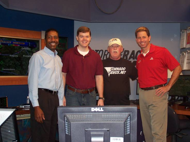 Rick Cutright with the NBC 26 StormTracker weather team, circa 2009