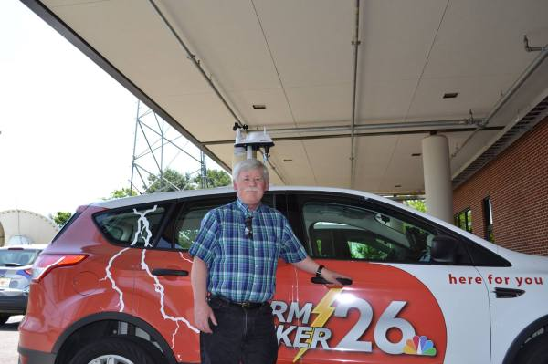 "Rick Cutright with ""StormTracker 26"""