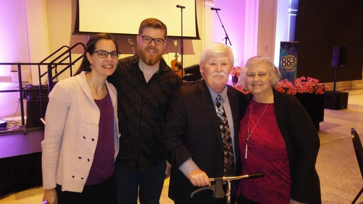 Stephanie and Rich Rogers with Rick and Diana Cutright on March 2, 2019 at First Baptist Church of Augusta