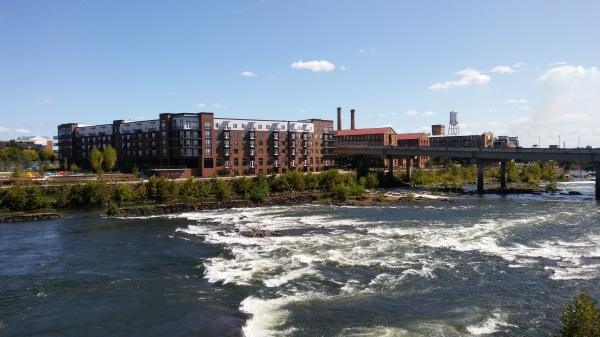 Chattahoochee River at downtown Columbus, GA