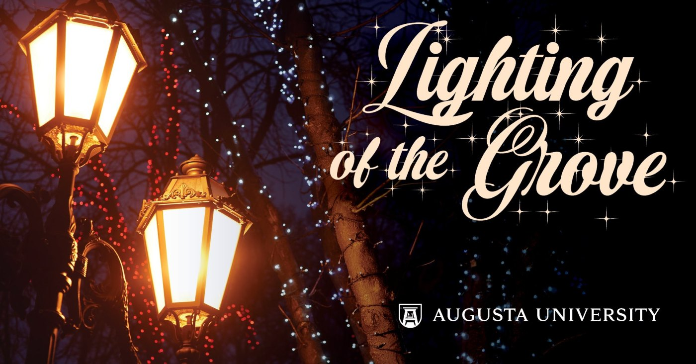 Lighting of the Grove at Augusta University