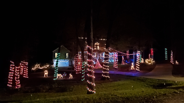 Christmas lights at a home in Fernbrook subdivision in Evans, GA on Dec. 5, 2020